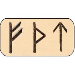 Amulet mocy na drewnie